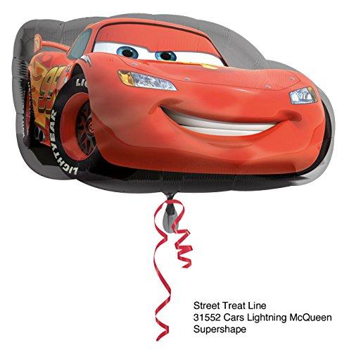 Ballonim® Cars Lightning McQueen ca.55cm Luftballons Folienballon Party DekorationGeburtstag
