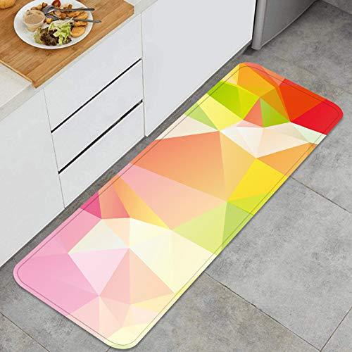 RUEMAT Alfombra de Cocina Antideslizante,diseño de Fondo Estilo Origami geométrico Abstracto,Estera de Cocina Felpudos Decorativo Alfombra para Dormitorio Baño Pasillo 45 x 120cm