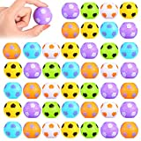 42 Piezas Mini Pelotas Antiestrés de Fútbol, Balones Giratorios de Fútbol para Dedos para Aliviar Estrés Mini Juguete Fidget de Hilandero de Mano en Forma de Fútbol, Colores Surtidos