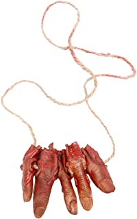 DaySiswong Halloween Costume Party Decorations, Halloween Decoration Scary Bloody Fake Latex Arm Hand Foot Heart Brain Finger