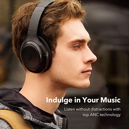 TaoTronics Active Noise C   ancelling Headphones [Upgraded] Bluetooth Headphones SoundSurge 60 Over Ear Headphones Wireless Headphones Deep Bass, Quick Charge, 30H Playtime for Travel Work Cellphone