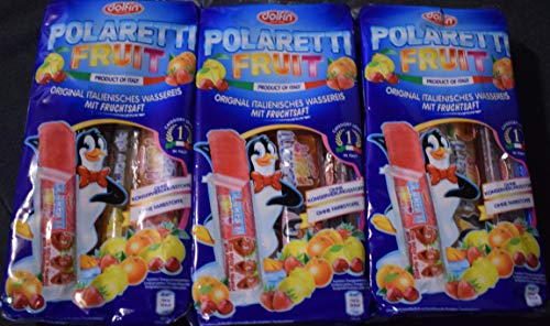 3x Polaretti Fruit Ice Eis cream Lollies mit Fruchtsaft zum Einfriere 10x 40ml