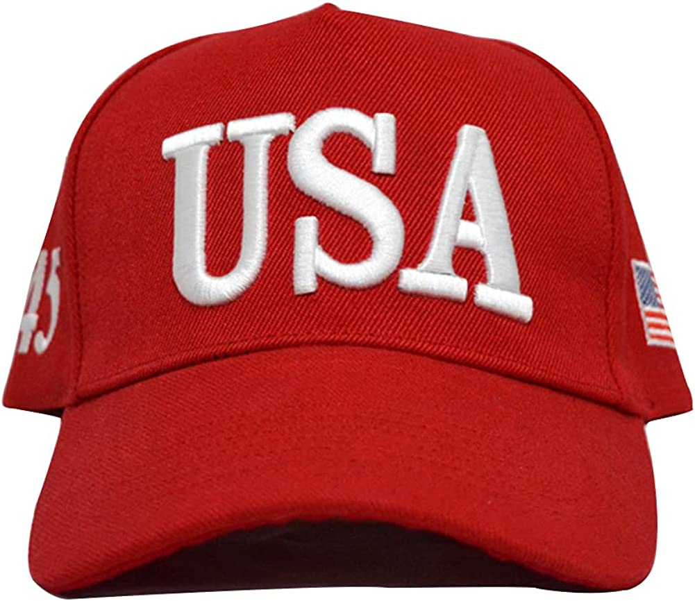 Red USA American Flag hat Baseball Cap Polo Style Adjustable Embroidered dad hat, Both Men and Women Carry The American Flag