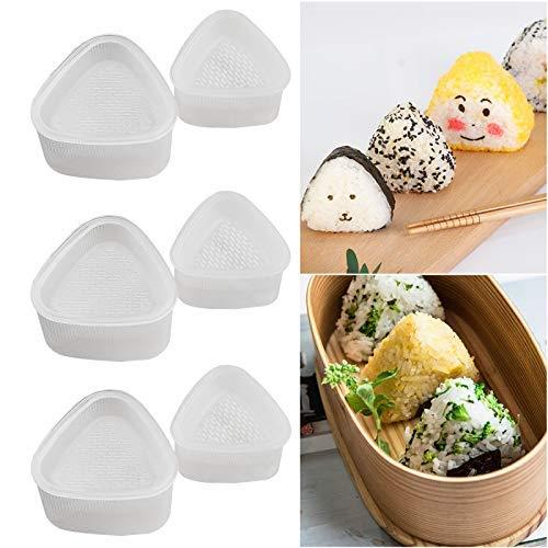 XunHe 6 x Reisdreieck Form, Japanisches Onigiri Reisbällchen Fingerfood Dreieck Schale Sushi Former Reisformer Onigiriform Sake Nigiri Nori passt zu Algenblätter