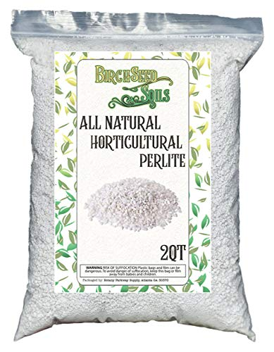 Horticultural Perlite 2 Quart Bag - All Natural Soil Additive for Indoor & Outdoor Plants, Improves Drainage, Aeration, and Growth