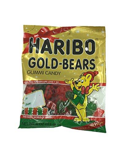 Haribo Christmas Gold Bears, 4 oz
