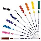 edding 4600 Textilstift - 10 Farben im Set (Basic) - R&spitze 1 mm - Textilstifte waschmaschinenfest (60 °C) zum Stoff bemalen - Stoffmalstift