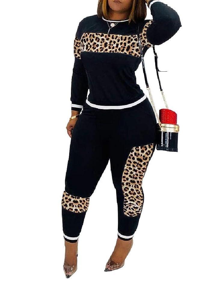バイパス会議実験室sayahe Women Casual Long Sleeve Top and Skinny Pants 2 Piece Set