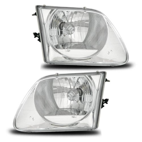 AmeriLite Headlights Lighting Style Set for Ford F-150 / Expedition - Passenger and Driver Side