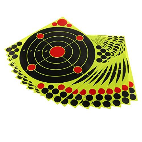 MagiDeal 10pcs Selbstklebende Ziel Zielscheibe Aufkleber aus Papier