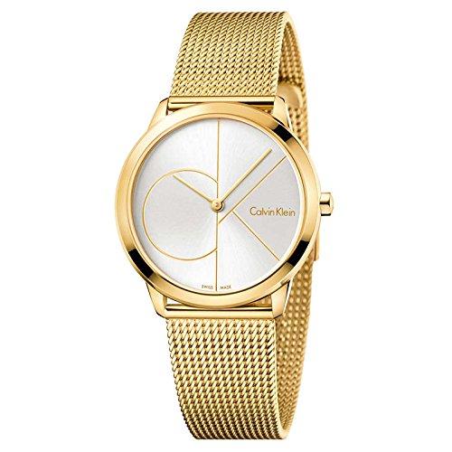 Calvin Klein Damen Analog Quarz Uhr mit Edelstahl Armband K3M22526