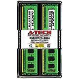 A-Tech 8GB (2x4GB) DDR3 1600MHz DIMM PC3-12800 UDIMM Non-ECC CL11 240-Pin Desktop Computer RAM Memory Upgrade Kit