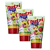 3er Pack Putzi Die Zahncreme fr Kinder Erdbeere (3 x 50 ml) Kinderzahncreme, Kinderzahnpasta, Zahnpflege, Zahnpaste