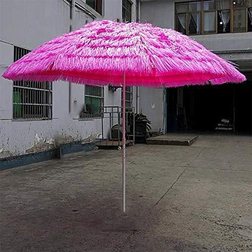 Parasol 2.8m Imitation Paille Parapluie Anti-UV ImperméAble Style BâChes Parapluie De Marché Parapluie Banane Parapluie ExtéRieur LDFZ
