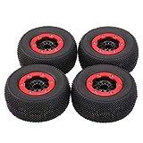 JVSISM 4 Teile / Satz RC 1:10 Short Course LKW Reifen Set Reifen Felge für Slash HPI Fernbedienung Auto Modell Spielzeug Teile