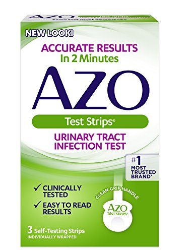 AZO Urinary Tract Infection Test Strips, 3-Count Boxes (Pack...