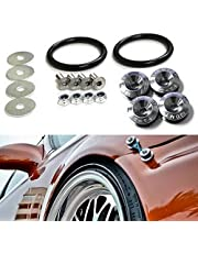 iJDMTOY Universal Fit JDM Quick Release Fastener Kit Compatible With Car Bumper Trunk Fender Hatch Lid