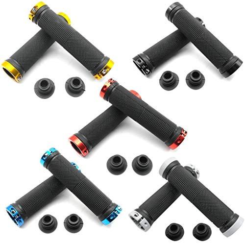 1 par Puños ergonómicos de Goma para Manillar de Bicicleta Puños de Bicicleta Profesionales Antideslizantes Puños de Ciclismo para MTB Color Aleatorio