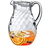 Amazing Abby - Bubbly Whirly - Acrylic Pitcher (72 oz), Clear Plastic Pitcher with Lid, BPA-Free and Shatter-Proof, Great for Iced Tea, Sangria, Lemonade, and More