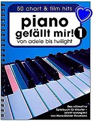 Piano gefällt mir ! Volume 1 - 50 tubes de film d\'Adele à Twilight - Livre de jeu ultime pour piano avec pince à partitions - BOE7788-9783865438911