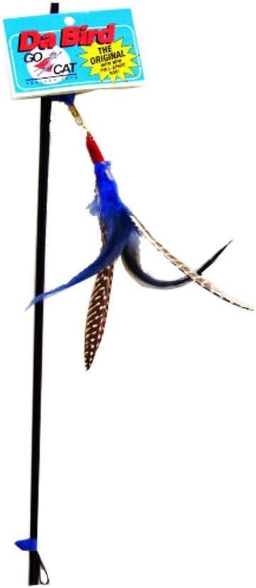 Handmade in The USA GoCat Da Bird Pull 2 Piece Pull Apart Rod /& Bird 1 Bird