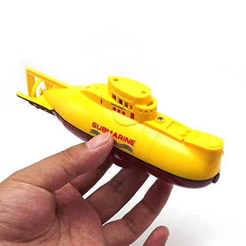 eMart Kids Mini RC Toy Remote Control Boat Submarine Ship Electric Toy Waterproof Diving in Water for Gift - Yellow