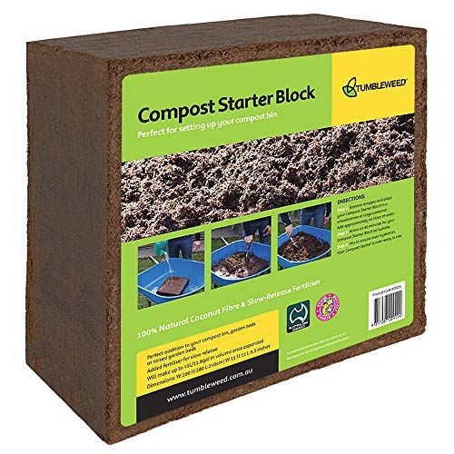 Review Of Tumbleweed Compost Starter Block - Expands in Water to Start Your Compost Bin - Coir Brick