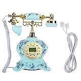 Heayzoki Teléfono con Cable, teléfono Antiguo Antiguo de Estilo Europeo Antiguo...