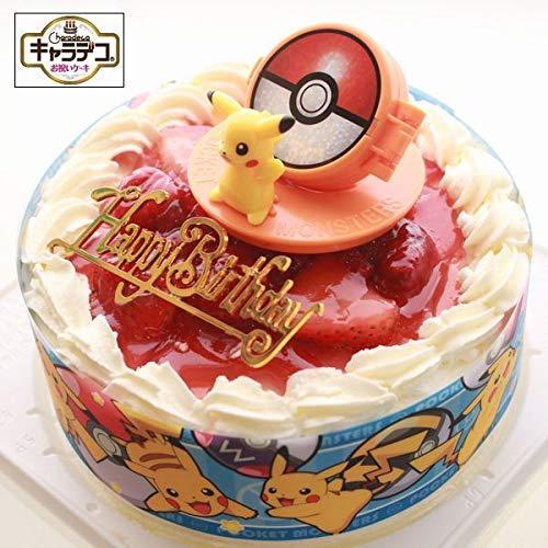 ポケットモンスター 2019 苺デコレーションケーキ5号 キャラデコお祝いケーキ