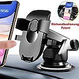 AMZOON Handyhalter fürs Auto Handyhalterung KFZ Handy Halterung Universale Windschutzscheibe