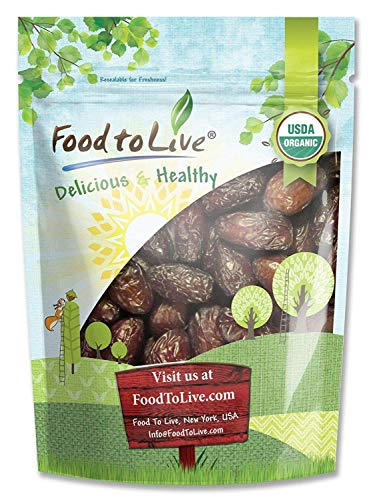 Organic Medjool Dates, 1 Pound - Non-GMO, Raw, Vegan
