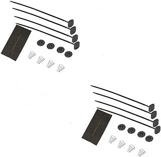 Upgr8 Universal Fan Mount Kit Push Through Radiator Tie Strap Plastic (2 Pack)