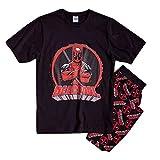 Pijama Deadpool oficial para hombre   Conjunto de pijama de superhéroe Marvel para...