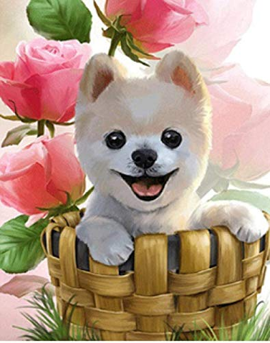Houten puzzel 1000 stukjes stukjes for Volwassen kinderen educatief Stress Reliever -Lachende puppy in een mand-Modern Home Decor Art Uniek Cadeau 50X75CM
