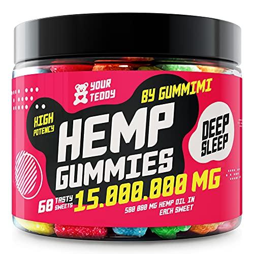 Gummies for Pаin, Аnxiety, Slееp, Stress Rеlief - Candy Gummy Bear con aceite - Rico en vitaminas B, E y Omega 3, 6, 9