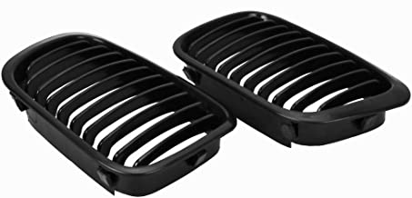 Anzio Euro Front Upper Kidney Grille Grill Replacement for BMW Car 1998-2001 E46 4-Door Sedan 320i 323i 325i 328i 330i M3 (Matte Black)