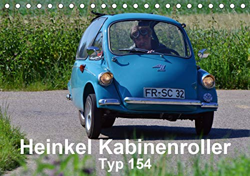 Heinkel Kabinenroller Typ 154 (Tischkalender 2021 DIN A5 quer)