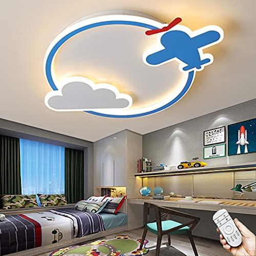 Lámpara De Sala De Estar LED Lámpara De Techo De Diseño De Avión Moderno 3000k-6000k Iluminación De La Habitación De Los Niños Candelabro Para Dormitorio Oficina Balcón Pasillo Luz De Techo (B,50CM)