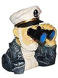 alles-meine.de GmbH Kapitän / Seefahrer mit Fernglas - als  Spanner am Gartenzaun  - große XL Figur - aus Kunstharz - Maritim - Gartenzwerg / Gartendeko Garten - Nachbar Reisen..