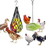 Comedero automático para frutas y verduras, bolsas de malla de alimentación y comederos de acero inoxidable para pollos, juguetes para pollos, porta frutas para pollos, accesorios para pollos