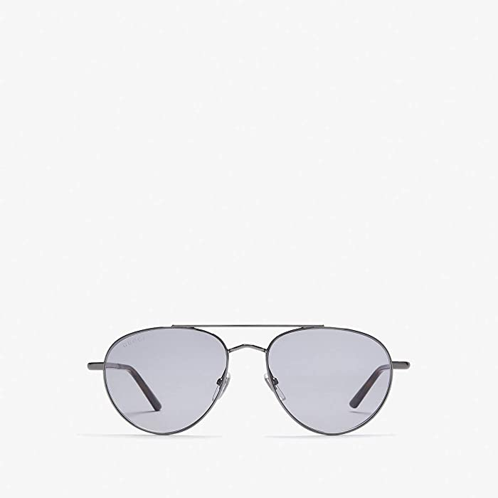 Gucci  GG0388S (Dark Ruthenium/Grey) Fashion Sunglasses