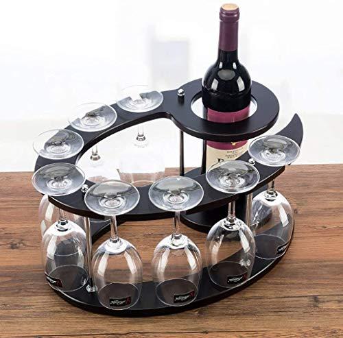 Botellero cerveza Vino cremallera de una pieza de madera del estante del vino vino de la manera europea rack de altura titular de la botella de cristal del sostenedor del hogar Decoración botella WJHC