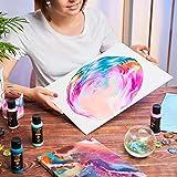 Arteza Pouring Acrylfarbe, 32 Stück-Set, 60 ml Flaschen mit vielen Farbtönen, flüssige Gießfarbe, kein Mischen erforderlich, Farbe zum Gießen auf Leinwand, Glas, Papier, Holz, Fliesen und Steine - 6