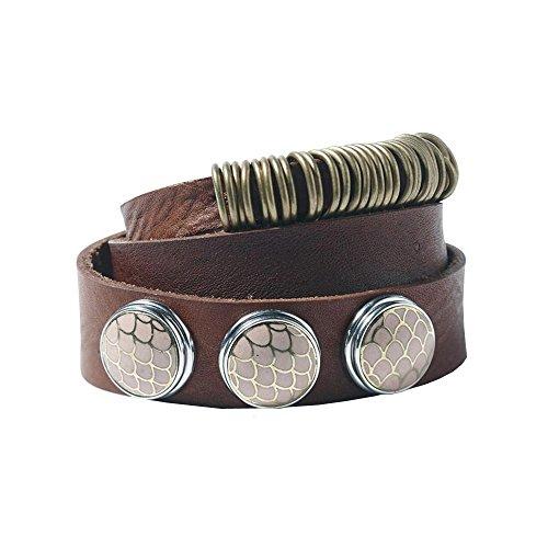 Noosa Armband NIVKH Wrap double dark brown ohne Chunks, Größe:XS