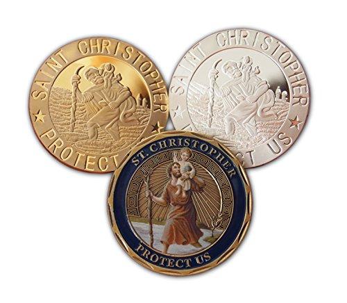 Saint Christopher Feine Sammlerpackung mit schönen religiösen Münzen zum Sammeln