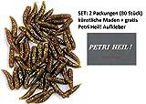 SET: 2 Packungen (insgesamt 80 Stück) BEHR Kunstmaden bronze braun glitter