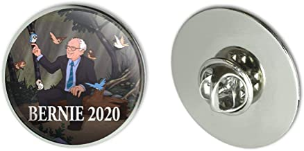 GRAPHICS & MORE Bernie Sanders 2020 with Birds in A Forest Retro Cartoon Metal 1.1