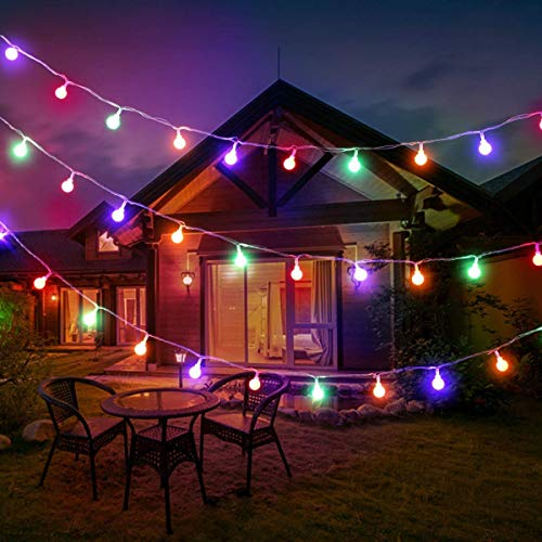 Pro Multi Coloured Fairy Lights Plug in, 10m 100 D RGB Christmas Lights, 8 Modes, Globe String Lights Mains Powered for Garden Gazebo, Pergola, Indoor Teen Girl's Bedroom Wall and More BJY969