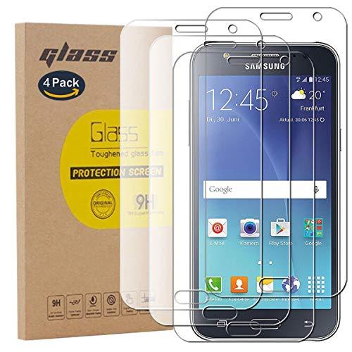 pinlu [4 Pack Protector de Pantalla de Cristal para Samsung Galaxy J5...
