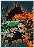 JCYMC Jigsaw Puzzle 1000 Piezas Anime Deku Vs Bakugo Carteles De Madera Juguetes para Niños Juego De Descompresión Zy466Tm